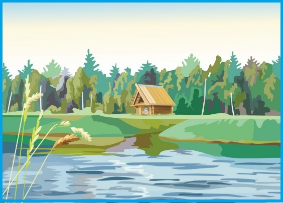 рисунок реки твоего края